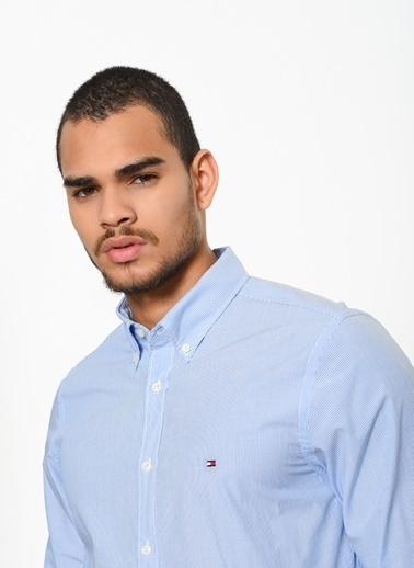 Tommy Hilfiger Uzun Kollu Gömlek Mavi